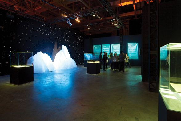 The iceberg room at the exhibition