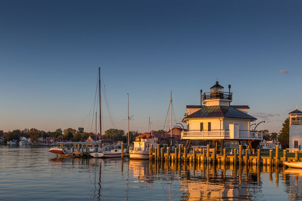Lighthouse at the Chesapeake Bay Maritime Museum