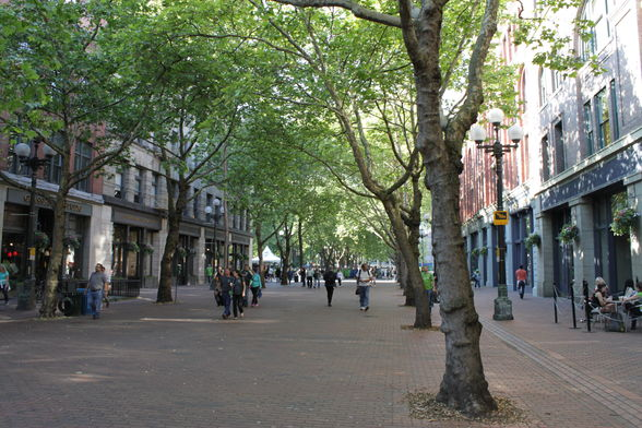 Occidental Park in Pioneer Square, Seattle