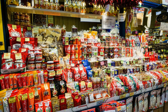 Stall of paprika for sale in Budapest, Hungary