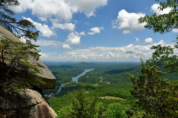 There are spectacular views in Chimney Rock State Park in North Carolina.