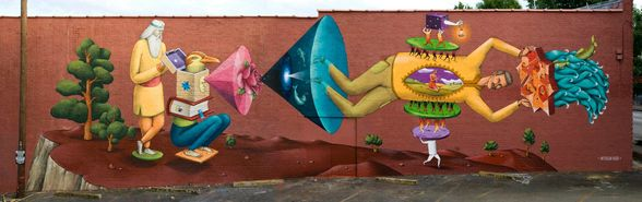 Mural by Interesni Kazki for Living Walls in East Atlanta