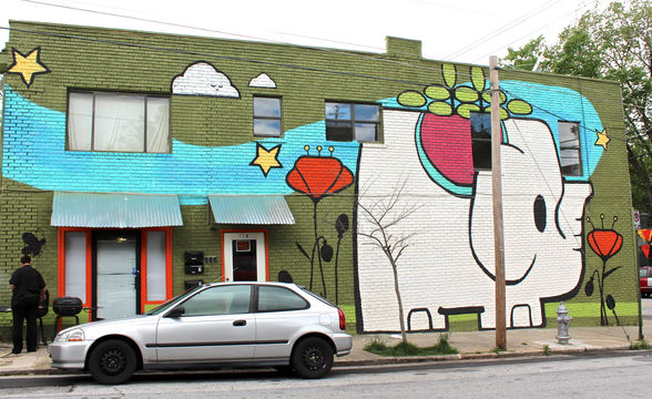 Elephant mural by olive47 in Inman Park, Atlanta, GA