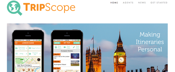 TripScope helps travel agents and customers communicate, build trips and solve travel problems.