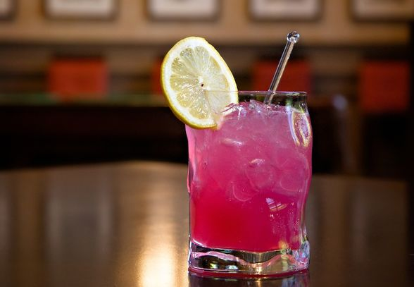 Tart and sweet, hibiscus syrup adds a pop of pink to this drink. Ingredients: 1 oz house-infused hibiscus syrup 1 oz fresh lemon juice ¾ oz St. Germain Elderflower liqueur 1 ½ oz Ketel One Citroen Directions: 1. Mix together all ingredients 2. Shake and pour into an old fashioned glass 3. Garnish with a lemon wheel
