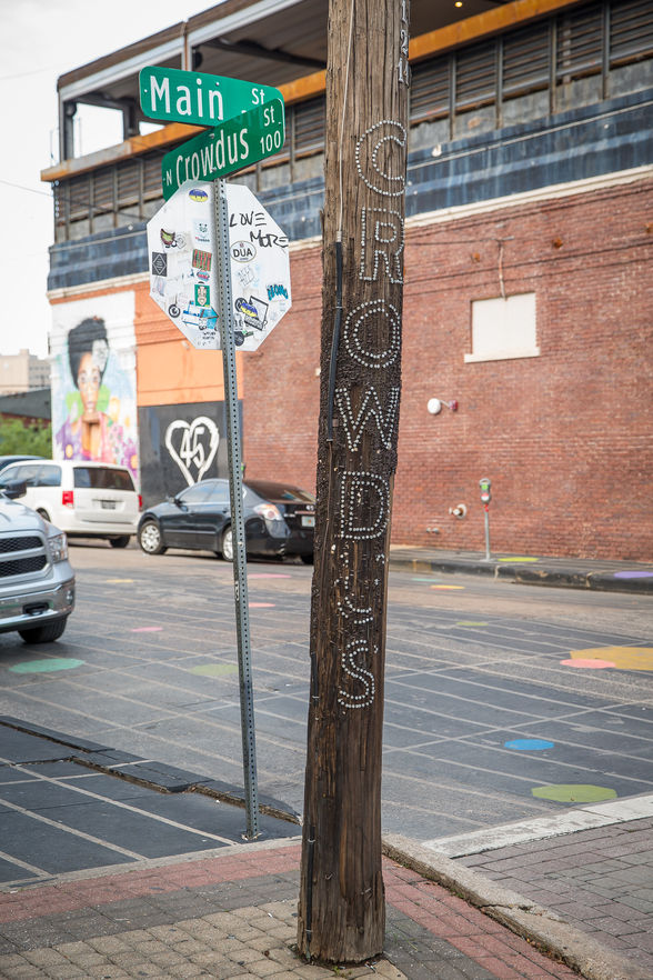 Music venues line both sides of Elm Street, including the local favorite Twilite Lounge.