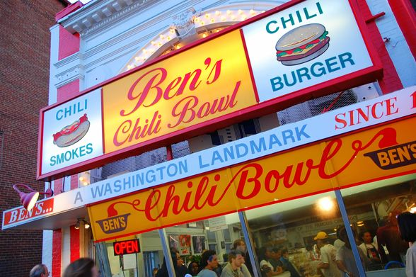 Ben's Chili Bowl Restaurant in Washington D.C.
