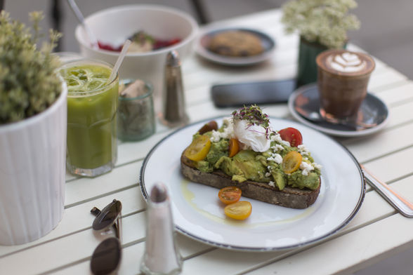 Avocado smash at Bluestone Lane Collective Café