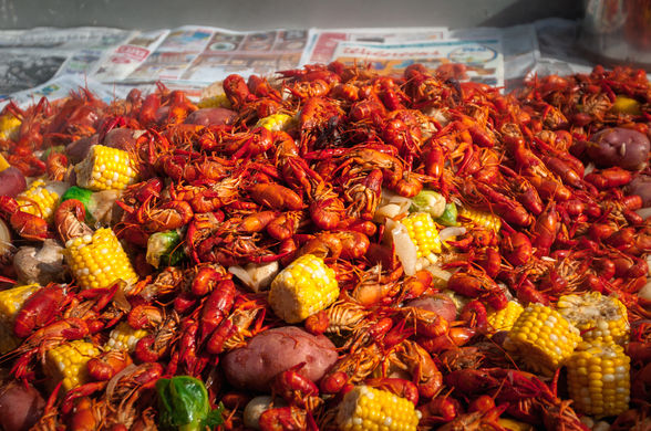 New Orleans crawfish boil (©Shawn Fink)
