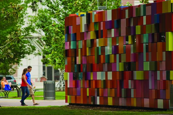"""Synchronicity of Color"" is one of Discovery Green's most recognized public art pieces."