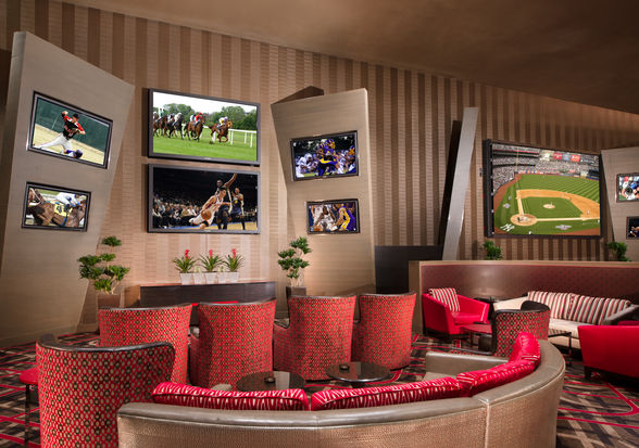Posh place to party—Aria's sports book (©MGM Resorts International)