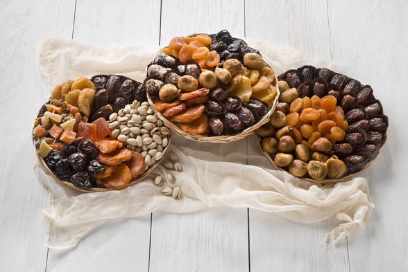 Platters of dates and nuts