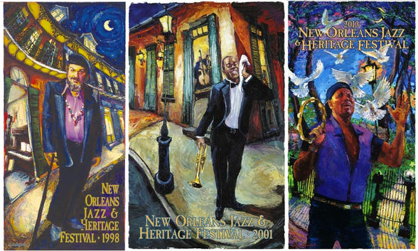 Michalopoulos New Orleans Jazz & Heritage Festival posters