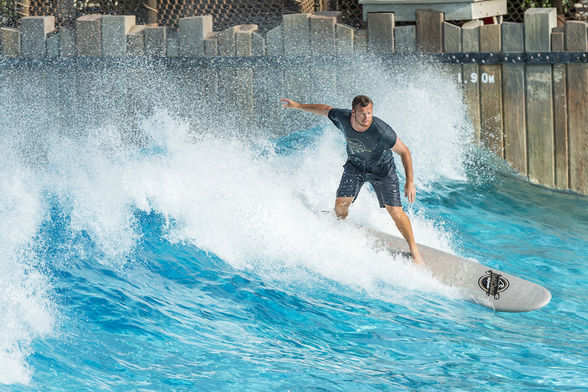 Surfing in Disney's Typhoon Lagoon