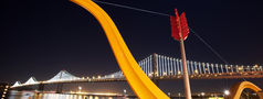 Cupid's Span and the Bay Lights