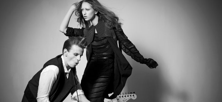 Esther Perbrandt's style is androgynous and avant garde.