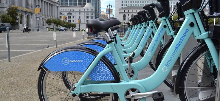 Pedal around the city with Bay Area Bike Share.