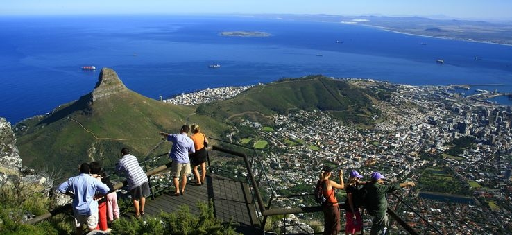 Viewing point at Table Mountain, Cape Town