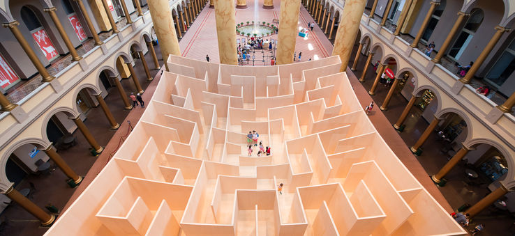 The Big Maze at the National Building Museum