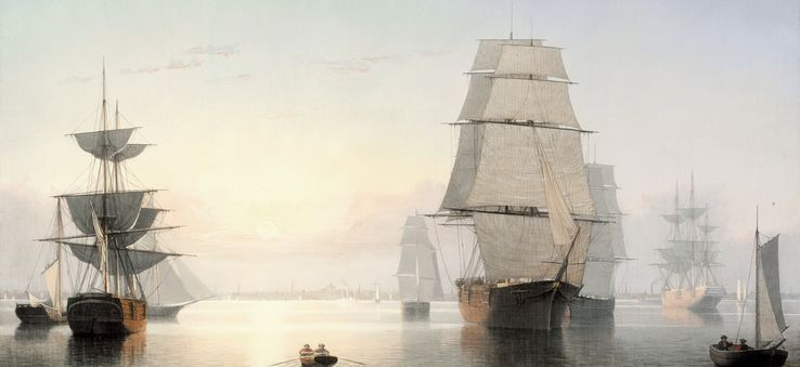 Ships on canvas