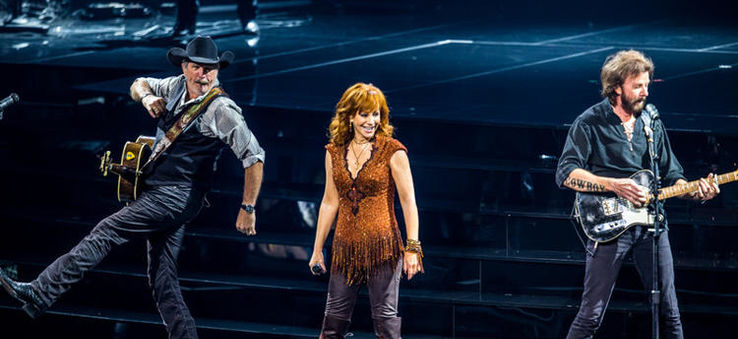 From left: Ronnie Dunn, Reba McEntire and Kix Brooks