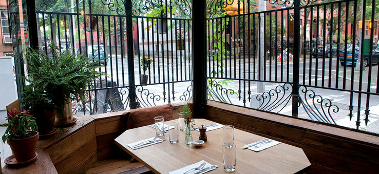 A table at the Brooklyn restaurant Rucola