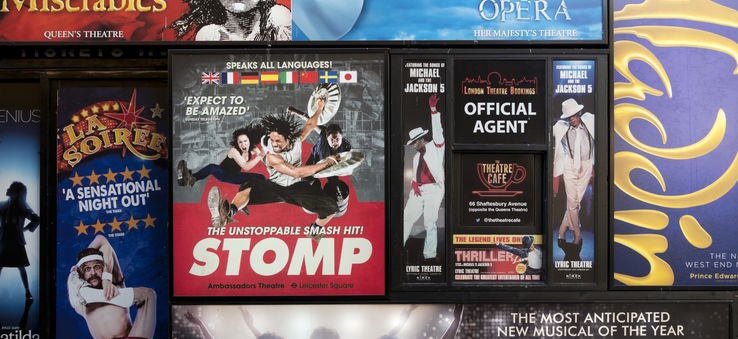 West End theatre posters, London, UK