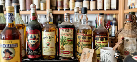 Stephen Remsberg's private rum collection in New Orleans.