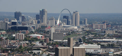 St. Louis skyline looking east