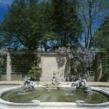 One of many fountains at Dumbarton Oaks