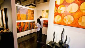 Explore local art galleries during First Friday.