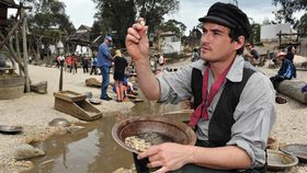 Panning for gold at Sovereign Hill (Courtesy Sovereign Hill)