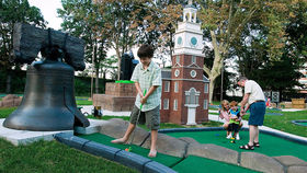 Philly-themed mini golf at Franklin Square