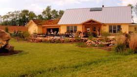 Tasting room exterior with patio
