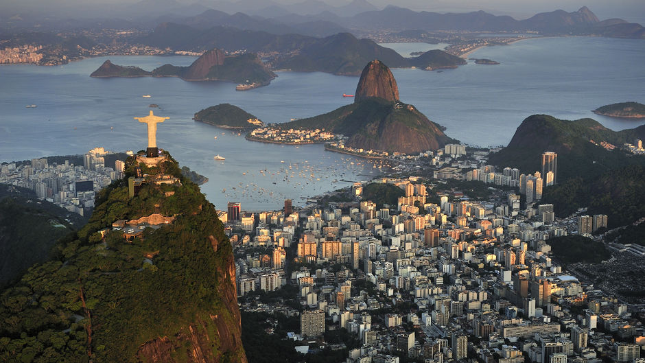 view of Rio from Corcovado Mountain