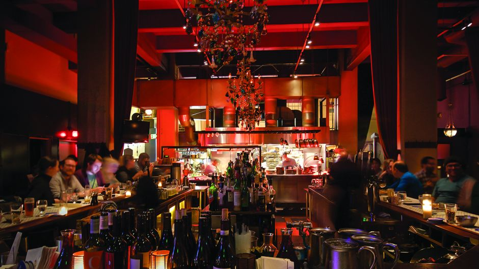 The bar at Belltown's Palace Kitchen.