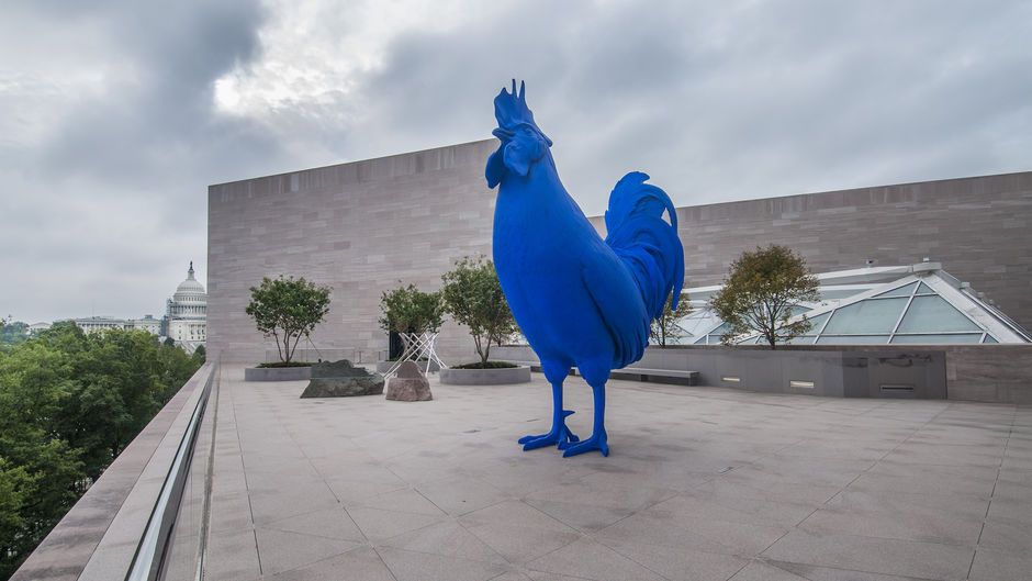 """""""Hahn/Cock"""" by Katharina Fritsch at the National Gallery of Art"""