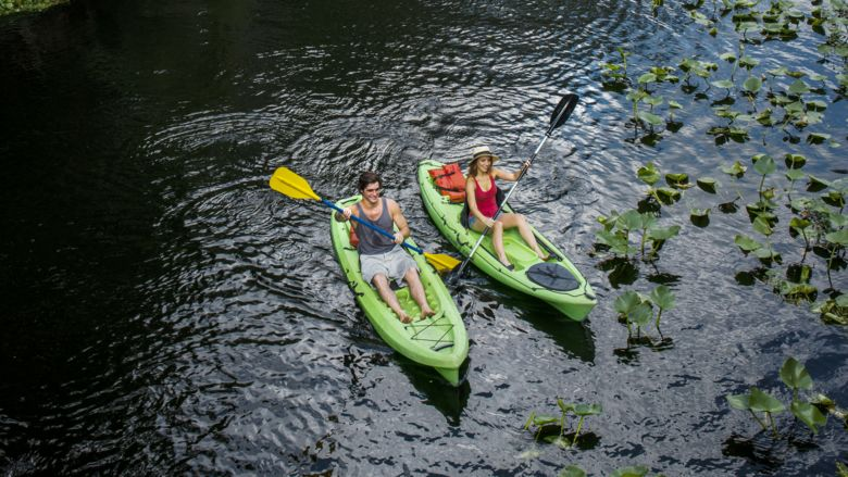 Kayaking is a great way to explore Orlando's many lakes