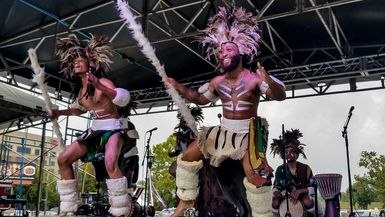 A performance at the 2018 Arts in the Heart festival.