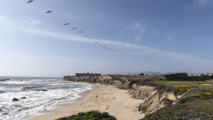 Half Moon Bay, home to miles of ocean bluffs and sandy beaches