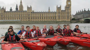 Kayaking tour on the Thames, London, UK