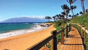 Wailea beach and ocean