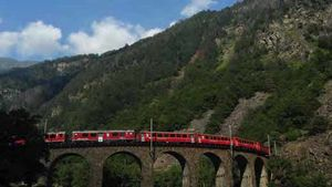 The Red Train of the Alps