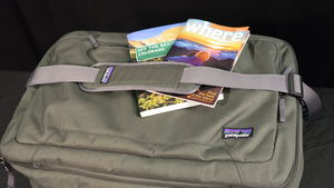 Gear review of the Patagonia Transport MLC 45L shoulder bag carry-on