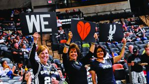 Spurs fans at the AT&T Center