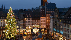 The Christmas market in Strasbourg, France