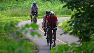 Cyclists on the W&OD Trail in Northern Virginia