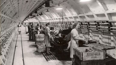 Factory workers at Plessey in 1941, London, UK