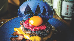 A monstrous burger from Bosozoku HQ, Melbourne.