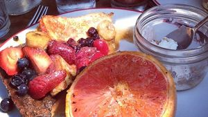 Farmers Fishers Bakers French toast with a roasted blood orange (Courtesy the restaurant)